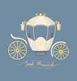 fairy tale vintage carriage decoration royal vector image vector image
