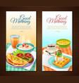 breakfast vertical banners vector image