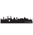 Hyderabad India skyline Detailed silhouette vector image vector image