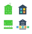 Set template logos Eco-friendly house vector image