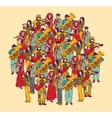 Big group musicians band orchestra color vector image