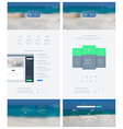 Landing page in flat style with features icons vector image vector image