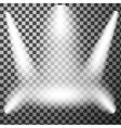 Scene illumination spotlights vector image vector image