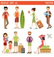 People go to holiday vector image vector image