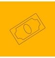 Banknote line icon vector image