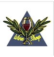 Color vintage wine shop emblem vector image
