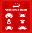 Funny beards of Santa Claus vector image