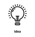 idea thin line icon vector image