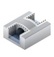 Isometric channel bridge vector image