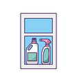 laundry shelf with products vector image