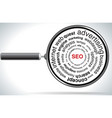 magnifying SEO vector image