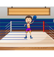 Single boxer in the ring vector image