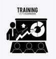 Training icon design vector image