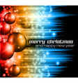 Neon merry christmas vector image