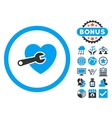 Heart Surgery Flat Icon with Bonus vector image