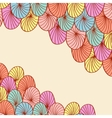 Abstract hand drawn round elements background vector image vector image