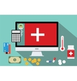 healthcare medical expense money health vector image