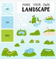 Landscape constructor vector image vector image
