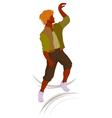 Dancing guy vector image