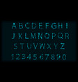 neon abc letters symbol typeset design roman vector image