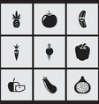 set of 9 editable cookware icons includes symbols vector image