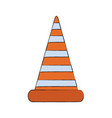 traffic cone icon road construction warning vector image