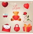 Valentines day icons set vector image