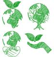 eco doodle2 vector image