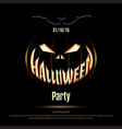 Halloween poster on a black background vector image