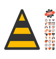 cone road construction icon with dating bonus vector image