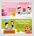 cooking masterclass banners set vector image