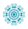 floral blue round ornament vector image