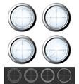 Sniper crosshairs set vector image