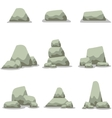 Stone set collection stock art vector image