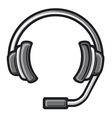 call center headset vector image