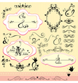 Vintage ornaments and frames- calligraphic design vector image vector image