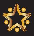 Teamwork gold books logo vector image vector image