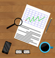 analytics with magnifying glass vector image