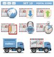 Postal Icons Set 10 vector image vector image