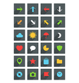 Modern thin web icons collection vector image