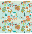 cartoon Christmas scene vector image vector image