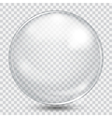 Big white transparent sphere vector image