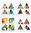 Modern geometric design temlates universal vector image vector image
