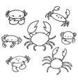 crab doodle set vector image