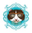 Hispter funny animal cartoon vector image