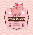 Baby shower card invitation save the date vector image