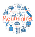 blue mountains concept vector image