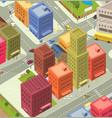 cartoon city aerial view vector image
