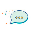 chat icon in trendy style - thin line flat design vector image