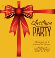 christmas party card with colorful decorative vector image
